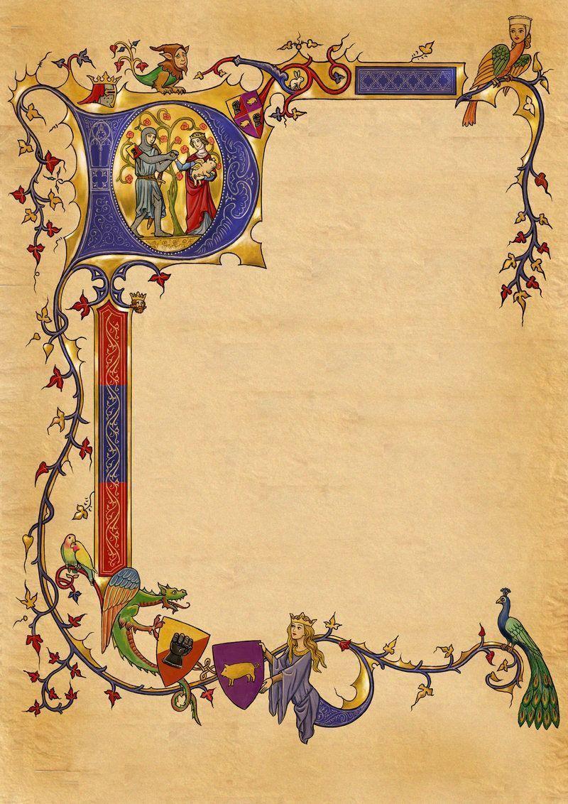 papier vierge médiéval