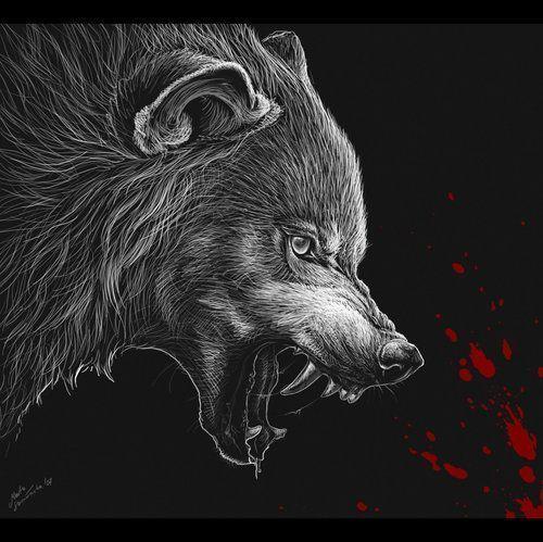 Loups loups garous page 17 - Loup garou a colorier ...