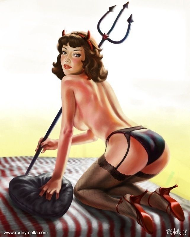 diablesse pin up